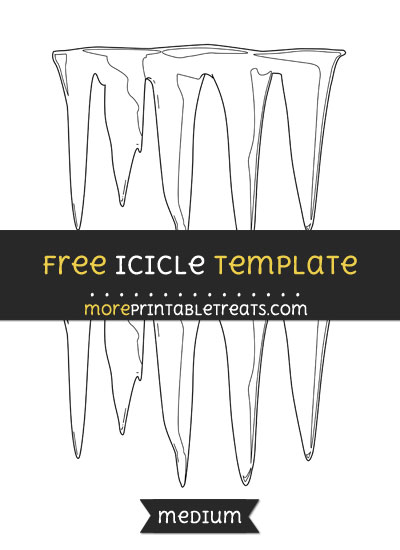 Free Icicle Template - Medium