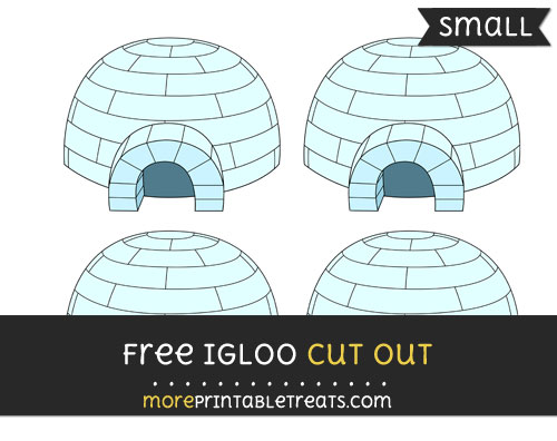 Free Igloo Cut Out - Small Size Printable