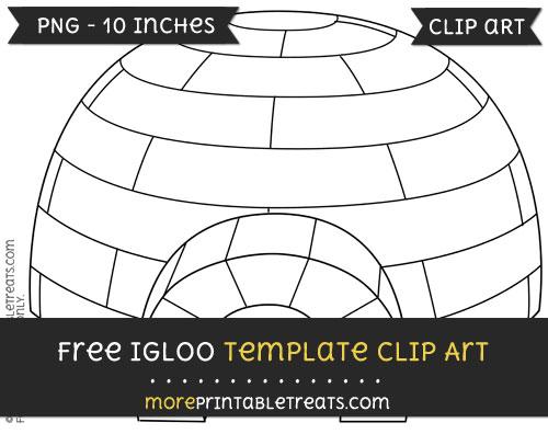 Free Igloo Template - Clipart