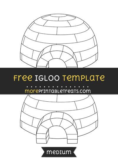 Free Igloo Template - Medium
