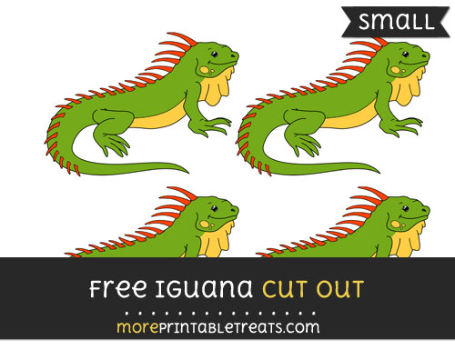 Free Iguana Cut Out - Small Size Printable