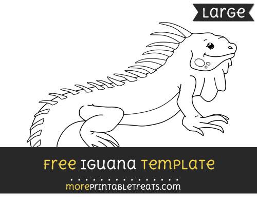 Free Iguana Template - Large