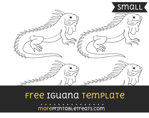 Free Iguana Template - Small