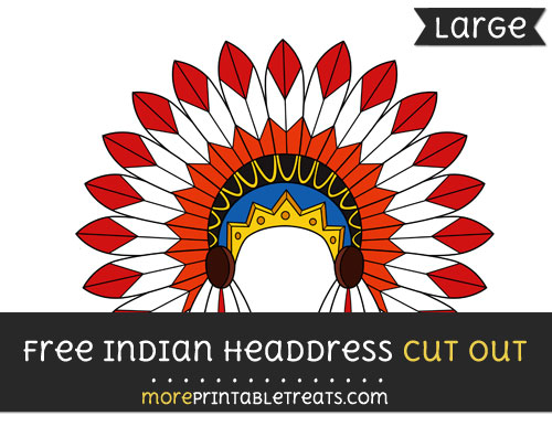 Free Indian Headdress Cut Out - Large size printable