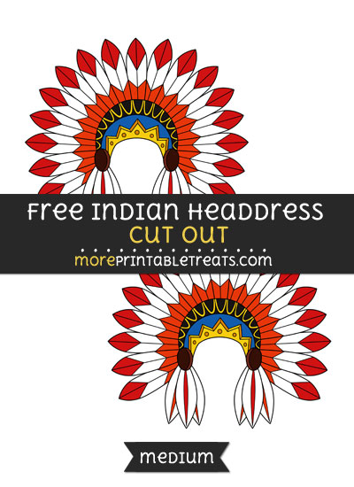 Free Indian Headdress Cut Out - Medium Size Printable