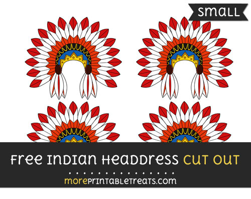 Free Indian Headdress Cut Out - Small Size Printable