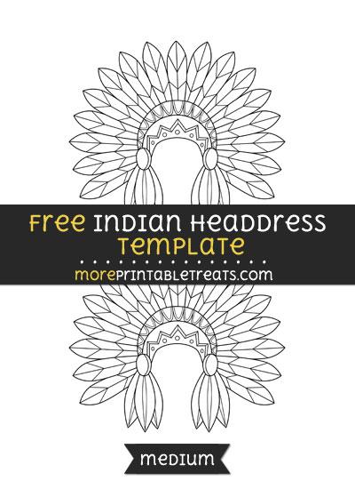 Free Indian Headdress Template - Medium