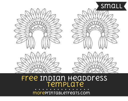 Free Indian Headdress Template - Small