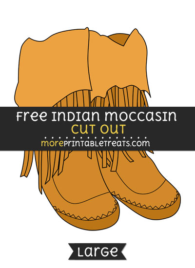 Free Indian Moccasin Cut Out - Large size printable