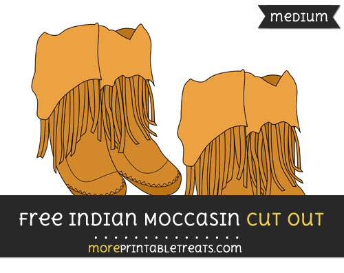 Free Indian Moccasin Cut Out - Medium Size Printable