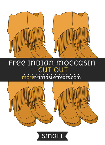 Free Indian Moccasin Cut Out - Small Size Printable