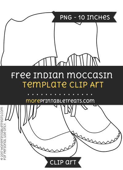 Free Indian Moccasin Template - Clipart