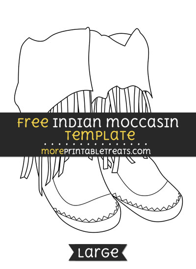 Free Indian Moccasin Template - Large