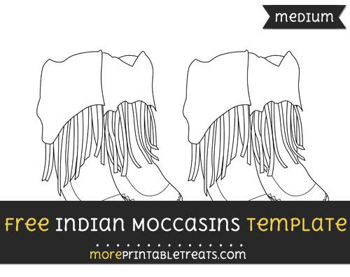 Free Indian Moccasin Template - Medium
