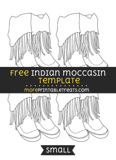 Free Indian Moccasin Template - Small