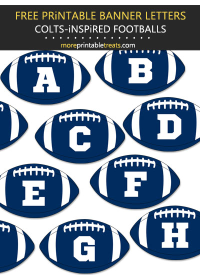 Free Printable Indianapolis Colts-Inspired Football Alphabet
