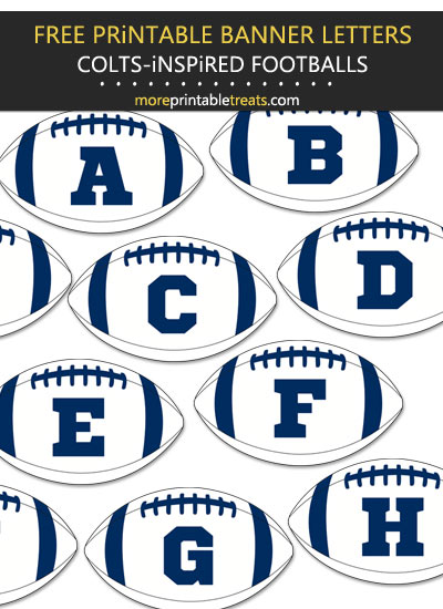 Free Printable Indianapolis Colts-Inspired Football Bunting Banner