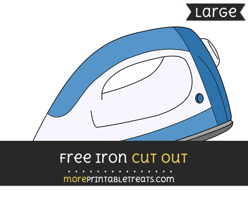 Free Iron Cut Out - Large size printable