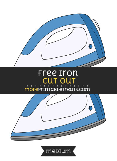 Free Iron Cut Out - Medium Size Printable