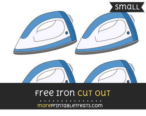 Free Iron Cut Out - Small Size Printable