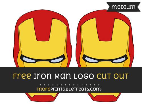 Free Iron Man Logo Cut Out - Medium Size Printable