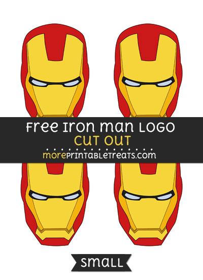 Free Iron Man Logo Cut Out - Small Size Printable