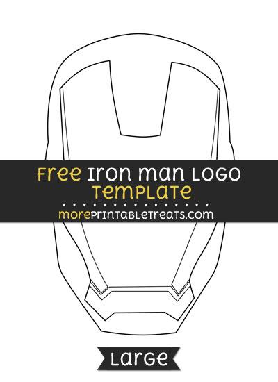 Free Iron Man Logo Template - Large