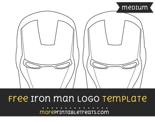 Free Iron Man Logo Template - Medium
