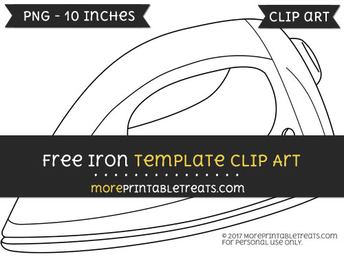 Free Iron Template - Clipart