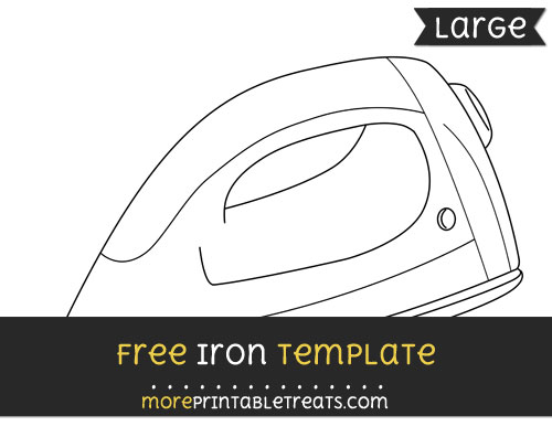 Free Iron Template - Large