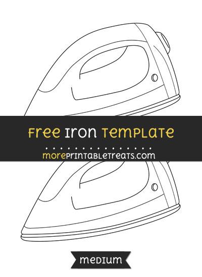 Free Iron Template - Medium