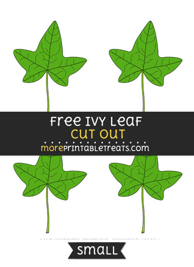 Free Ivy Leaf Cut Out - Small Size Printable