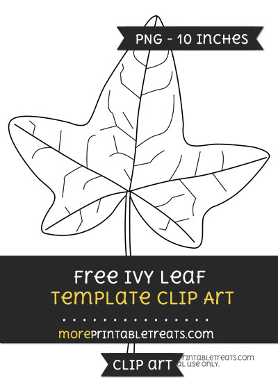 Free Ivy Leaf Template - Clipart