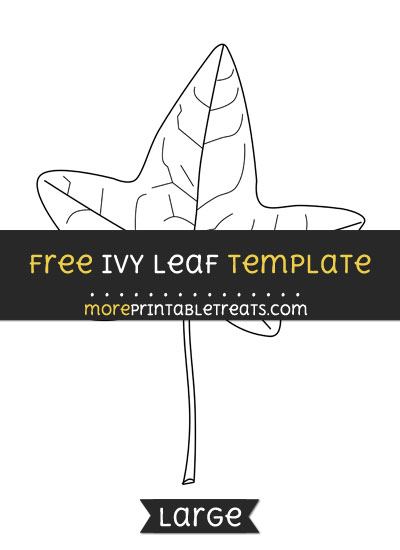 Free Ivy Leaf Template - Large