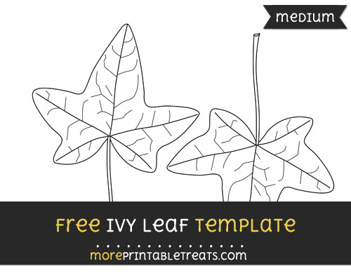 Free Ivy Leaf Template - Medium