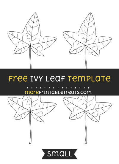 Free Ivy Leaf Template - Small