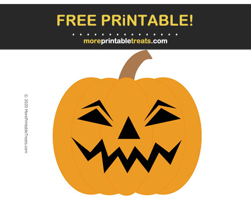 Free Printable Jack-o-Lantern Cut Out