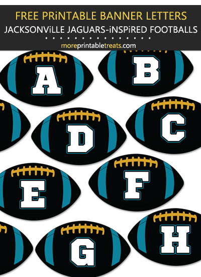 Free Printable Jacksonville Jaguars-Inspired Football Alphabet