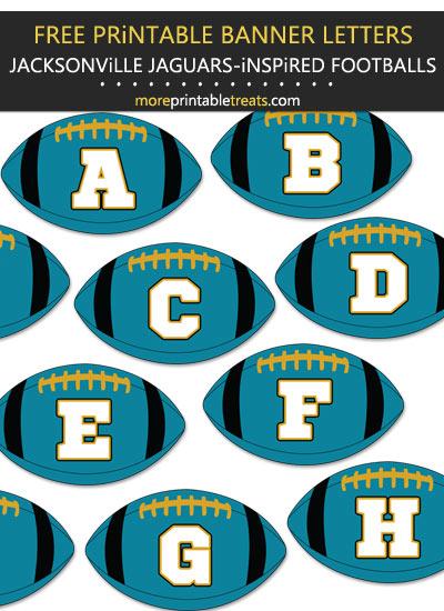 Free Printable Jacksonville Jaguars-Inspired Football Bunting Banner