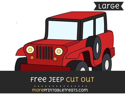 Free Jeep Cut Out - Large size printable