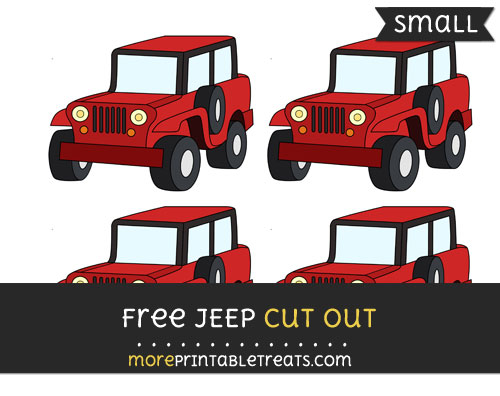 Free Jeep Cut Out - Small Size Printable