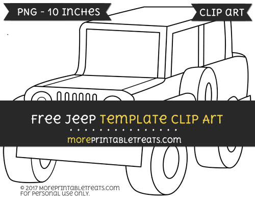 Free Jeep Template - Clipart