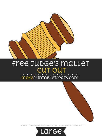Free Judges Gavel Cut Out - Large size printable