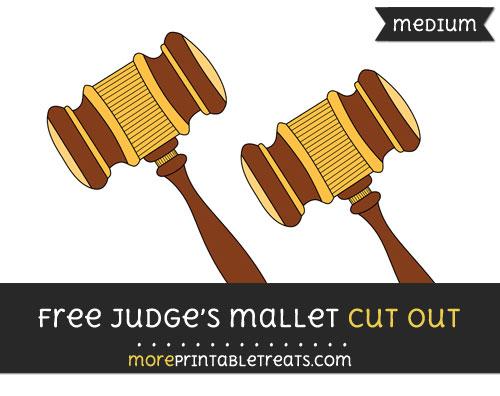 Free Judges Gavel Cut Out - Medium Size Printable