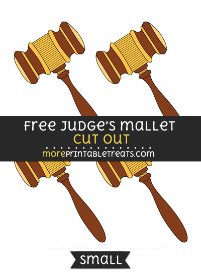 Free Judges Gavel Cut Out - Small Size Printable