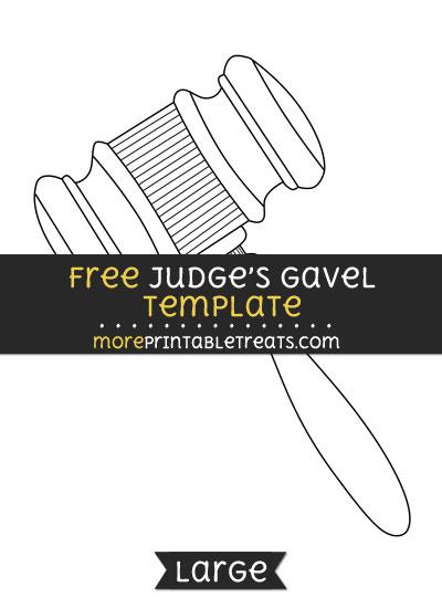 Free Judges Gavel Template - Large