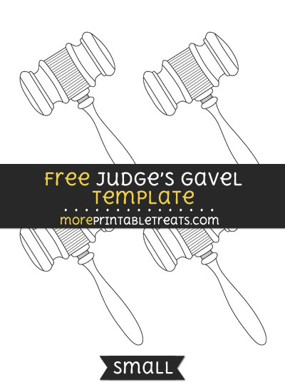 Free Judges Gavel Template - Small