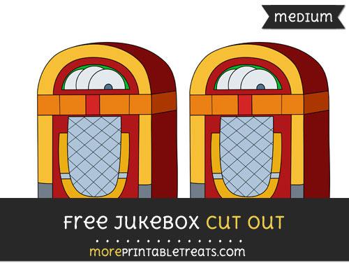 Free Jukebox Cut Out - Medium Size Printable