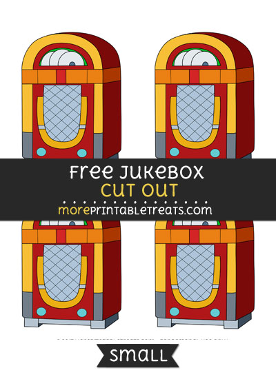 Free Jukebox Cut Out - Small Size Printable