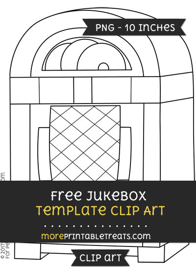Free Jukebox Template - Clipart